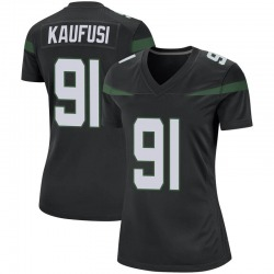 Game Women's Bronson Kaufusi New York Jets Nike Jersey - Stealth Black