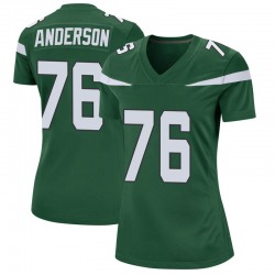 Game Women's Calvin Anderson New York Jets Nike Jersey - Gotham Green