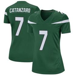 Game Women's Chandler Catanzaro New York Jets Nike Jersey - Gotham Green