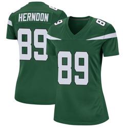 Game Women's Chris Herndon New York Jets Nike Jersey - Gotham Green