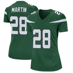 Game Women's Curtis Martin New York Jets Nike Jersey - Gotham Green