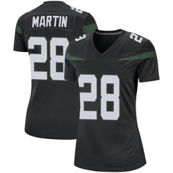 Game Women's Curtis Martin New York Jets Nike Jersey - Stealth Black