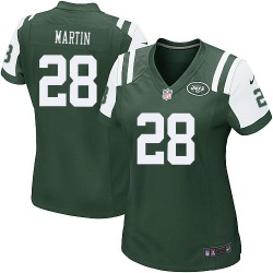 Game Women's Curtis Martin New York Jets Nike Team Color Jersey - Green
