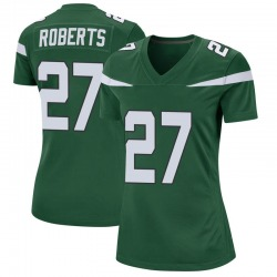 Game Women's Darryl Roberts New York Jets Nike Jersey - Gotham Green