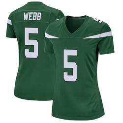 Game Women's Davis Webb New York Jets Nike Jersey - Gotham Green