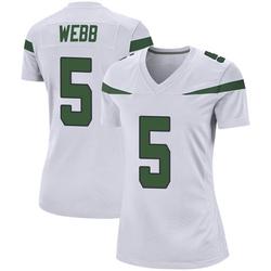 Game Women's Davis Webb New York Jets Nike Jersey - Spotlight White