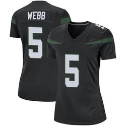 Game Women's Davis Webb New York Jets Nike Jersey - Stealth Black