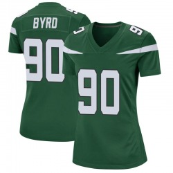 Game Women's Dennis Byrd New York Jets Nike Jersey - Gotham Green