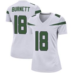 Game Women's Deontay Burnett New York Jets Nike Jersey - Spotlight White