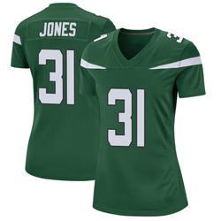 Game Women's Derrick Jones New York Jets Nike Jersey - Gotham Green