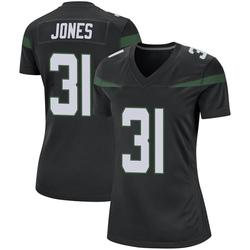 Game Women's Derrick Jones New York Jets Nike Jersey - Stealth Black