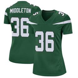 Game Women's Doug Middleton New York Jets Nike Jersey - Gotham Green