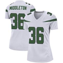 Game Women's Doug Middleton New York Jets Nike Jersey - Spotlight White