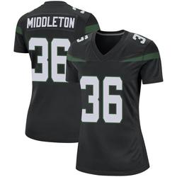Game Women's Doug Middleton New York Jets Nike Jersey - Stealth Black