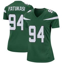 Game Women's Folorunso Fatukasi New York Jets Nike Jersey - Gotham Green