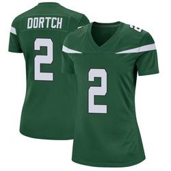 Game Women's Greg Dortch New York Jets Nike Jersey - Gotham Green