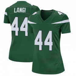 Game Women's Harvey Langi New York Jets Nike Jersey - Gotham Green