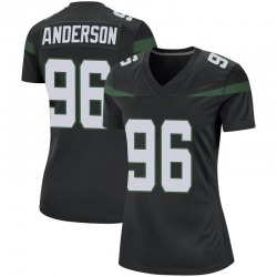 Game Women's Henry Anderson New York Jets Nike Jersey - Stealth Black