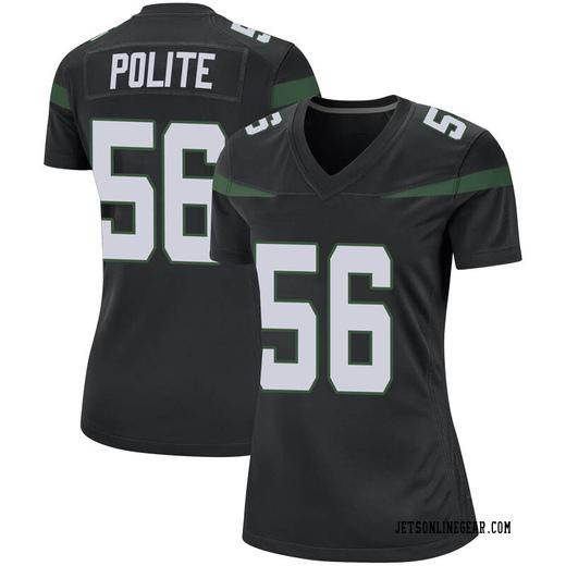 Game Women's Jachai Polite New York Jets Nike Jersey - Stealth Black