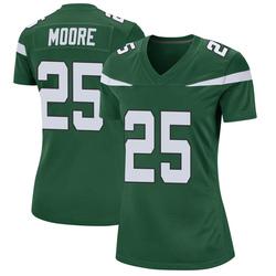 Game Women's Jalin Moore New York Jets Nike Jersey - Gotham Green