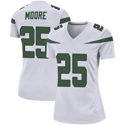 Game Women's Jalin Moore New York Jets Nike Jersey - Spotlight White