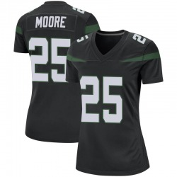 Game Women's Jalin Moore New York Jets Nike Jersey - Stealth Black