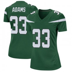 Game Women's Jamal Adams New York Jets Nike Jersey - Gotham Green
