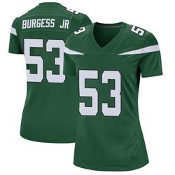 Game Women's James Burgess New York Jets Nike Jersey - Gotham Green