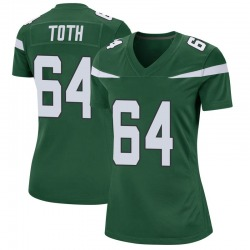 Game Women's Jon Toth New York Jets Nike Jersey - Gotham Green
