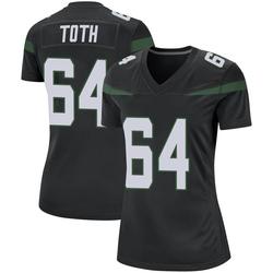 Game Women's Jon Toth New York Jets Nike Jersey - Stealth Black
