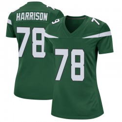 Game Women's Jonotthan Harrison New York Jets Nike Jersey - Gotham Green