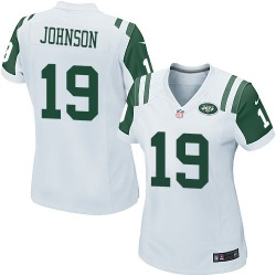 Game Women's Keyshawn Johnson New York Jets Nike Jersey - White