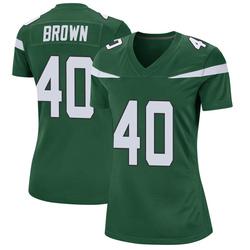 Game Women's Kyron Brown New York Jets Nike Jersey - Gotham Green