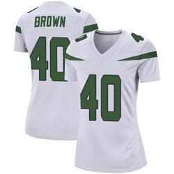 Game Women's Kyron Brown New York Jets Nike Jersey - Spotlight White