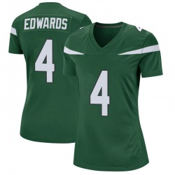 Game Women's Lachlan Edwards New York Jets Nike Jersey - Gotham Green