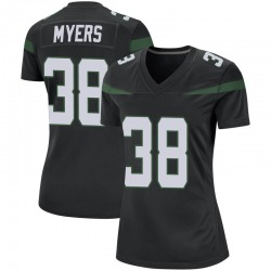 Game Women's Marko Myers New York Jets Nike Jersey - Stealth Black