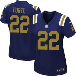 Game Women's Matt Forte New York Jets Nike Alternate Jersey - Navy Blue