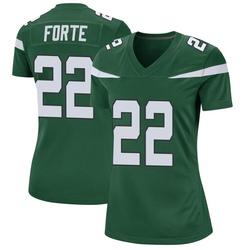 Game Women's Matt Forte New York Jets Nike Jersey - Gotham Green