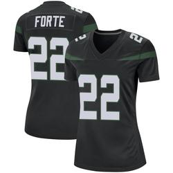 Game Women's Matt Forte New York Jets Nike Jersey - Stealth Black