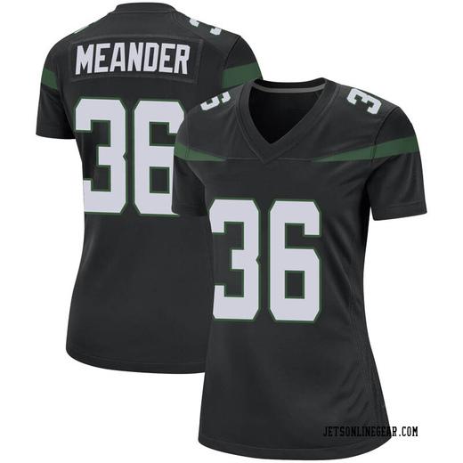 Game Women's Montrel Meander New York Jets Nike Jersey - Stealth Black