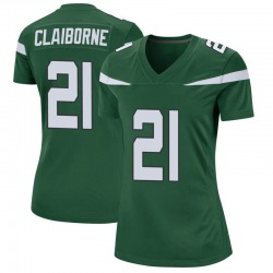 Game Women's Morris Claiborne New York Jets Nike Jersey - Gotham Green