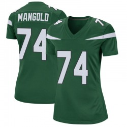 Game Women's Nick Mangold New York Jets Nike Jersey - Gotham Green