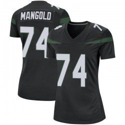Game Women's Nick Mangold New York Jets Nike Jersey - Stealth Black