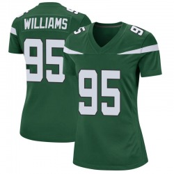 Game Women's Quinnen Williams New York Jets Nike Jersey - Gotham Green