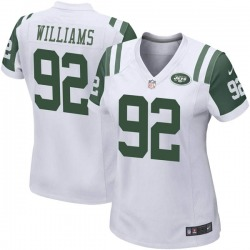 Game Women's Quinnen Williams New York Jets Nike Jersey - White
