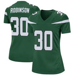Game Women's Rashard Robinson New York Jets Nike Jersey - Gotham Green