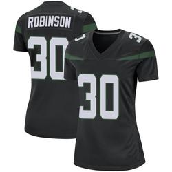 Game Women's Rashard Robinson New York Jets Nike Jersey - Stealth Black