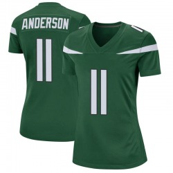 Game Women's Robby Anderson New York Jets Nike Jersey - Gotham Green