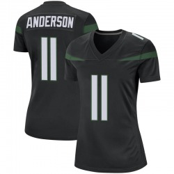 Game Women's Robby Anderson New York Jets Nike Jersey - Stealth Black