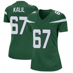 Game Women's Ryan Kalil New York Jets Nike Jersey - Gotham Green